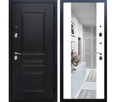 Входная металлическая дверь Армада Премиум Н с Зеркалом СБ-16 (Венге / Белый матовый)