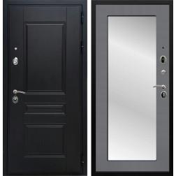 Входная дверь Армада Премиум Н с Зеркалом Пастораль (Графит софт)