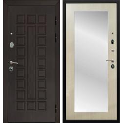 Дверь Армада Сенатор 3К с Зеркалом Пастораль (Венге / Дуб белёный)
