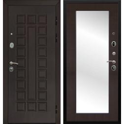 Входная дверь Армада Сенатор 3К с Зеркалом Пастораль (Венге / Венге)