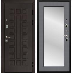 Дверь Армада Сенатор 3К с Зеркалом Пастораль (Венге / Графит софт)