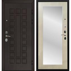 Дверь Армада Сенатор Cisa с Зеркалом Пастораль (Венге / Дуб белёный)