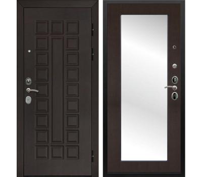 Входная металлическая дверь Армада Сенатор Cisa с Зеркалом Пастораль (Венге / Венге)