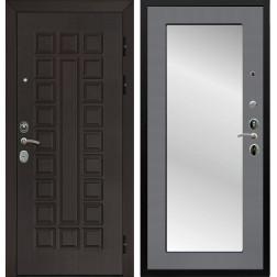 Дверь Армада Сенатор Cisa с Зеркалом Пастораль (Венге / Графит софт)