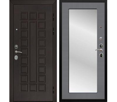 Входная металлическая дверь Армада Сенатор Cisa с Зеркалом Пастораль (Венге / Графит софт)