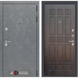 Входная металлическая дверь Лабиринт Бетон 16 (Бетон песочный / Алмон 28)