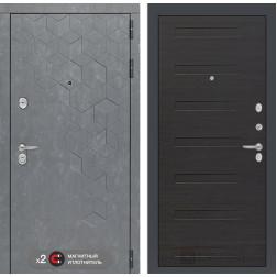 Входная металлическая дверь Лабиринт Бетон 14 (Бетон песочный / ЭкоВенге)