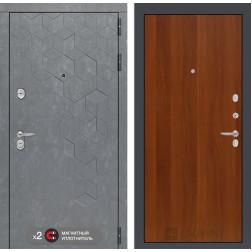 Входная дверь Лабиринт Бетон 5 (Бетон песочный / Итальянский орех)