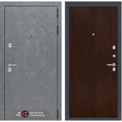 Входная металлическая дверь Лабиринт Бетон 5 (Бетон песочный / Венге)