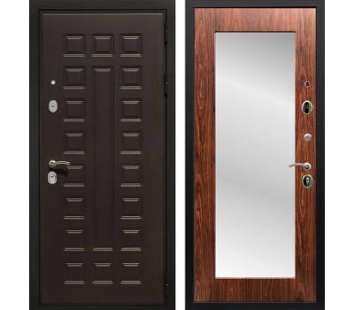 Входная металлическая дверь Армада Триумф 3К с Зеркалом Пастораль (Венге / Берёза морёная)
