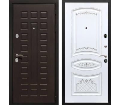 Входная металлическая дверь Армада Триумф 3К ФЛ-316 (Венге / Белый патина Серебро)