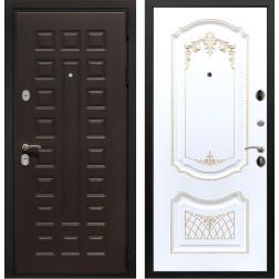 Входная дверь Армада Триумф 3К ФЛ-317 (Венге / Белый патина Золото)