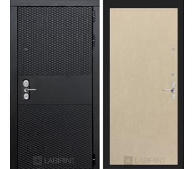 Входная металлическая дверь Лабиринт Black 5 (Чёрный кварц / Венге светлый)