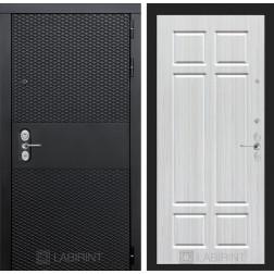 Входная металлическая дверь Лабиринт Black 8 (Чёрный кварц / Кристалл вуд)