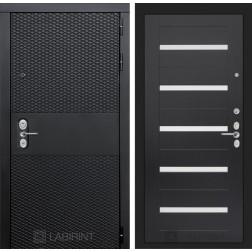 Входная металлическая дверь Лабиринт Black 1 (Чёрный кварц / Венге)