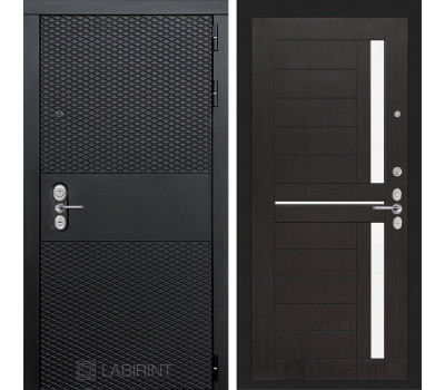 Входная металлическая дверь Лабиринт Black 2 (Чёрный кварц / Венге)