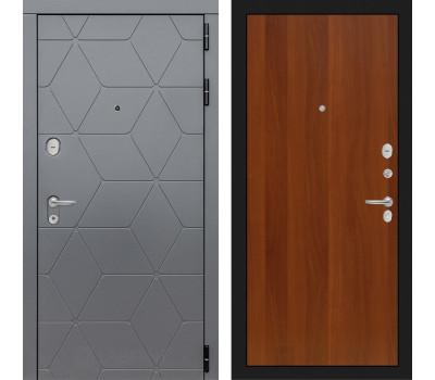 Входная металлическая дверь Лабиринт Cosmo 5 (Графит / Итальянский орех)