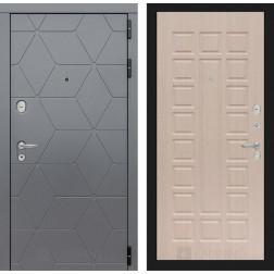 Входная металлическая дверь Лабиринт Cosmo 4 (Графит / Дуб белёный)