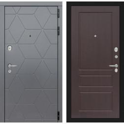 Входная металлическая дверь Лабиринт Cosmo 3 (Графит / Орех премиум)