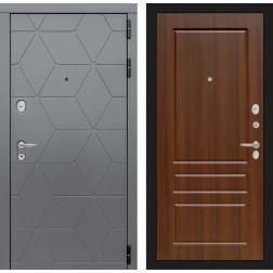 Входная металлическая дверь Лабиринт Cosmo 3 (Графит / Орех бренди)