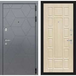 Входная металлическая дверь Лабиринт Cosmo 12 (Графит / Дуб белёный)