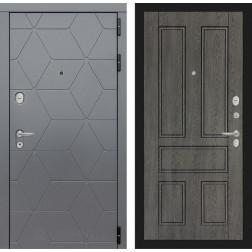 Входная металлическая дверь Лабиринт Cosmo 10 (Графит / Дуб филадельфия графит)