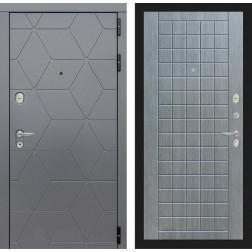 Входная металлическая дверь Лабиринт Cosmo 9 (Графит / Лен сильвер грей)