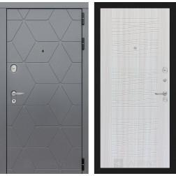 Входная металлическая дверь Лабиринт Cosmo 6 (Графит / Сандал белый)