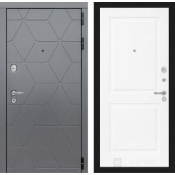 Входная металлическая дверь Лабиринт Cosmo 11 (Графит / Белый софт)