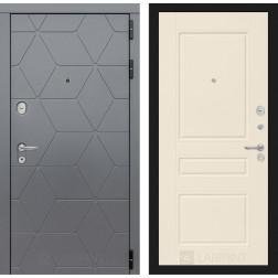 Входная металлическая дверь Лабиринт Cosmo 3 (Графит / Крем софт)