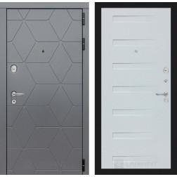 Входная металлическая дверь Лабиринт Cosmo 14 (Графит / Дуб кантри белый)