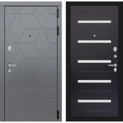 Входная металлическая дверь Лабиринт Cosmo 1 (Графит / Венге)
