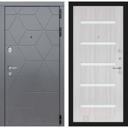 Входная металлическая дверь Лабиринт Cosmo 1 (Графит / Сандал белый)