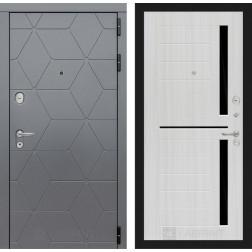 Входная металлическая дверь Лабиринт Cosmo 2 (Графит / Сандал белый)