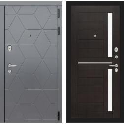Входная металлическая дверь Лабиринт Cosmo 2 (Графит / Венге)