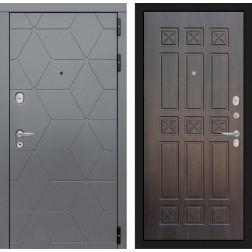 Входная металлическая дверь Лабиринт Cosmo 16 (Графит / Алмон 28)