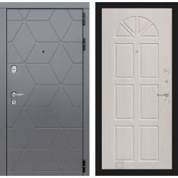Входная металлическая дверь Лабиринт Cosmo 15 (Графит / Алмон 25)