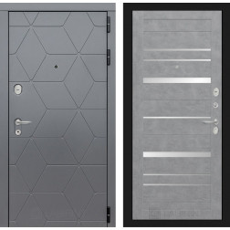 Входная металлическая дверь Лабиринт Cosmo 20 (Графит / Бетон светлый)