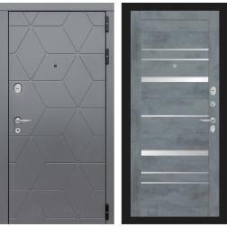 Входная металлическая дверь Лабиринт Cosmo 20 (Графит / Бетон темный)