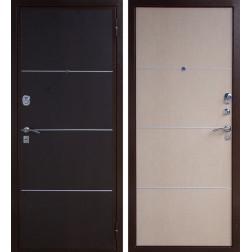 Входная металлическая дверь Юг-04 (Венге / Беленый венге)