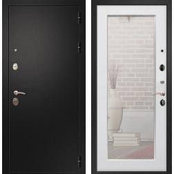 Входная дверь Армада 1A Пастораль с Зеркалом (Черный муар / Ясень белый)