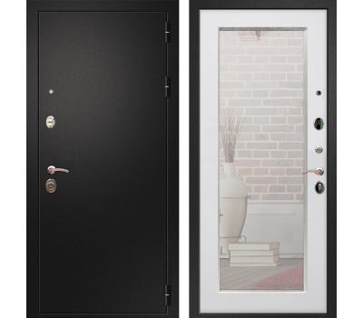 Входная металлическая дверь Армада 1A Пастораль с Зеркалом (Черный муар / Ясень белый)