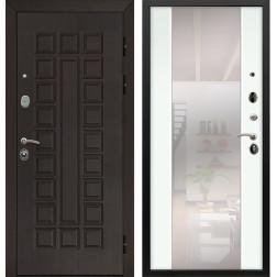 Входная дверь Армада Сенатор с Зеркалом СБ-16 (Венге / Ясень белый)
