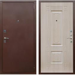 Входная дверь Армада 1 ФЛ-2 (Антик медь / Дуб белёный)