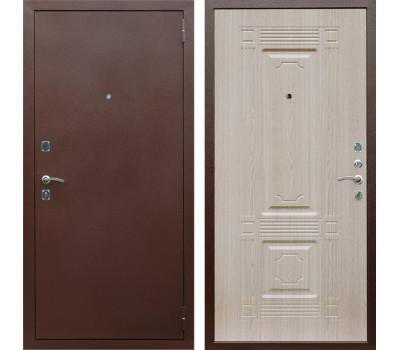 Входная металлическая дверь Армада 1 ФЛ-2 (Антик медь / Дуб белёный)