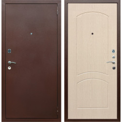 Входная металлическая дверь Армада 1А ФЛ-110 (Антик медь / Дуб белёный)