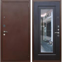 Входная дверь Армада 1A с зеркалом (Медный антик / Венге)