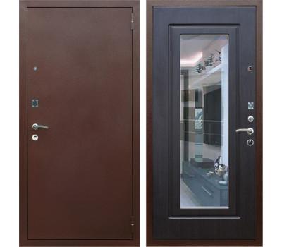 Входная металлическая дверь Армада 1A с зеркалом (Медный антик / Венге)