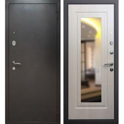 Входная дверь Армада 2 с зеркалом (Антик серебро / Дуб белёный)