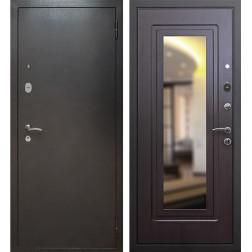 Входная дверь Армада 2 с зеркалом (Антик серебро / Венге)